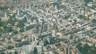 Vue aérienne de Bruxelles.