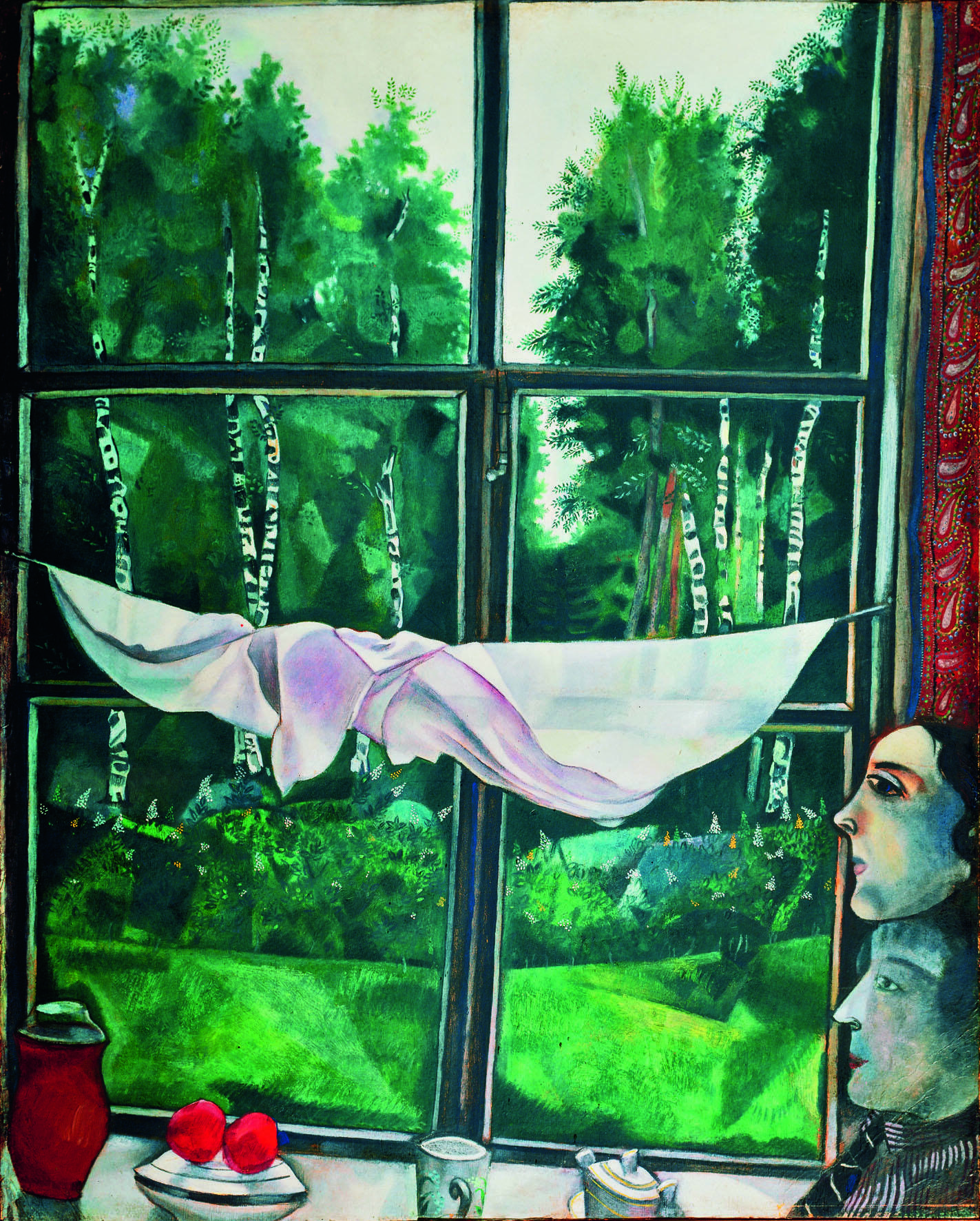 View from the window in Zaolchie, close to Vitebsk by Marc Chagall