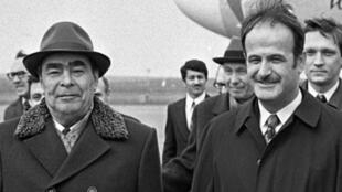 حافظ اسد و برژنف در سال 1974 در مسکو