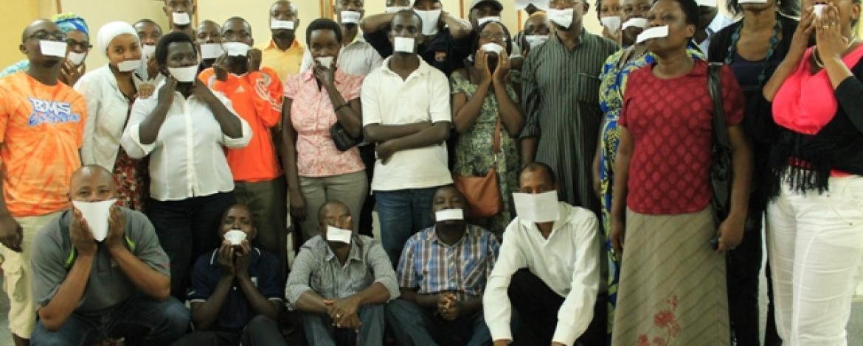 Wanahabari wa Burundi wakati wakigoma mwak 2015 jijini Bujumbura Burundi