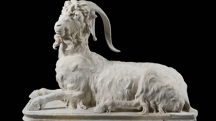 2020-10-20 art italy Torlonia Collection Statue of Resting Goat, Greek marble