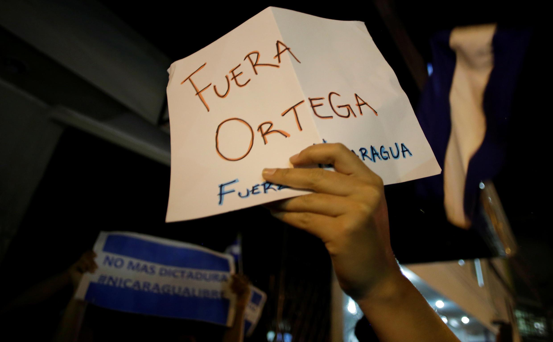 «Ortega fora» era um dos lemas de manifestações no passado 20 de Abril.