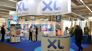 Stand of airlines company XL Airways France at the International French Travel Market Top Resa Exhibition on September 22, 2009 in Paris.