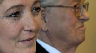 Le Pen, France's National Front leader, and his daughter, Marine Le Pen