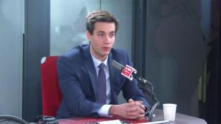 Pierre Person, délégué général adjoint du mouvement La République En Marche (LaRem), dans les studios de RFI, le 10 mars 2020.