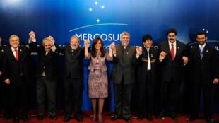 Los jefes de Estado de Mercosur se mostraron exultantes tras la reunión