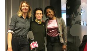 Les productrices Sandrine Brauer au centre, Julie Billy (à Gauche) et Laurence Lascary.