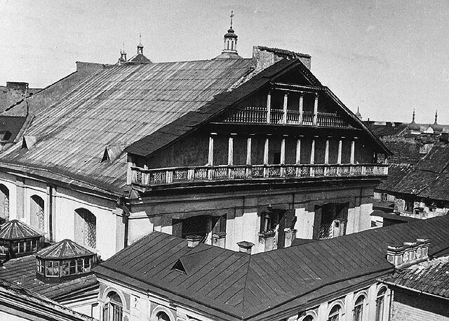 La Grande Synagogue de Vilnius. Photo prise lors de la Première Guerre mondiale par les Allemands.