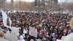 Митинг в Томске в защиту ТВ2 14 декабря, 2014