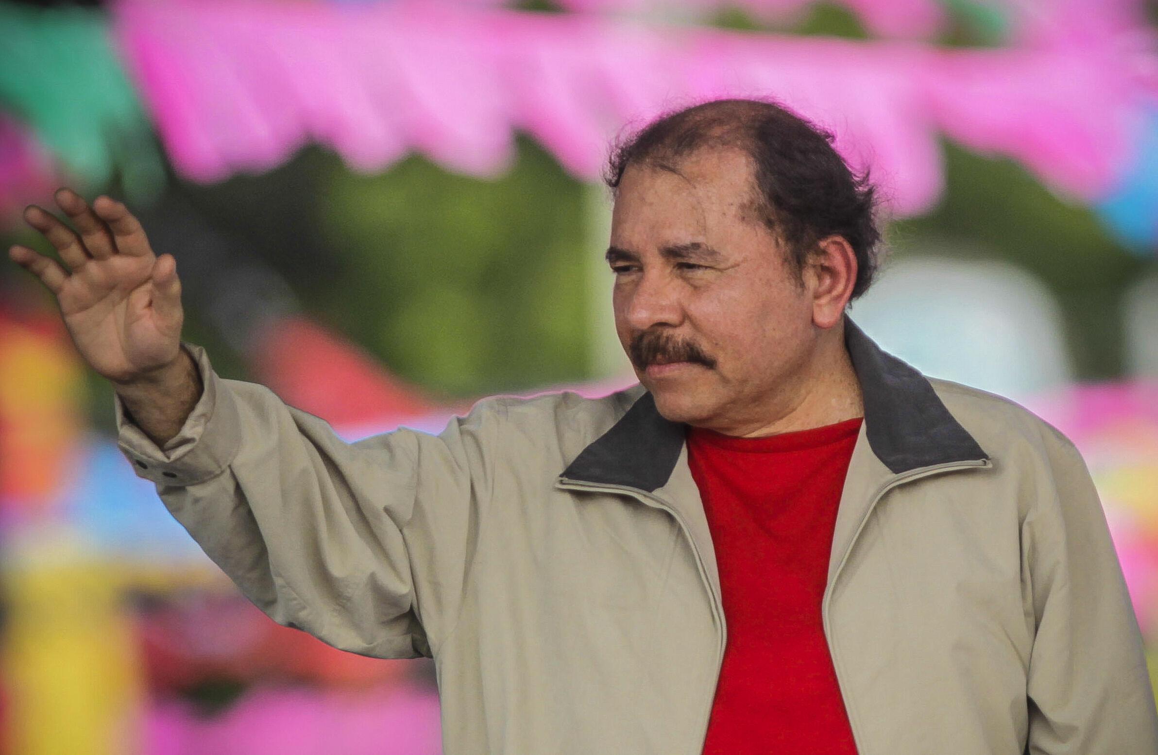 Le président du Nicaragua Daniel Ortega, le 3 juillet 2015 à Managua, la capitale.