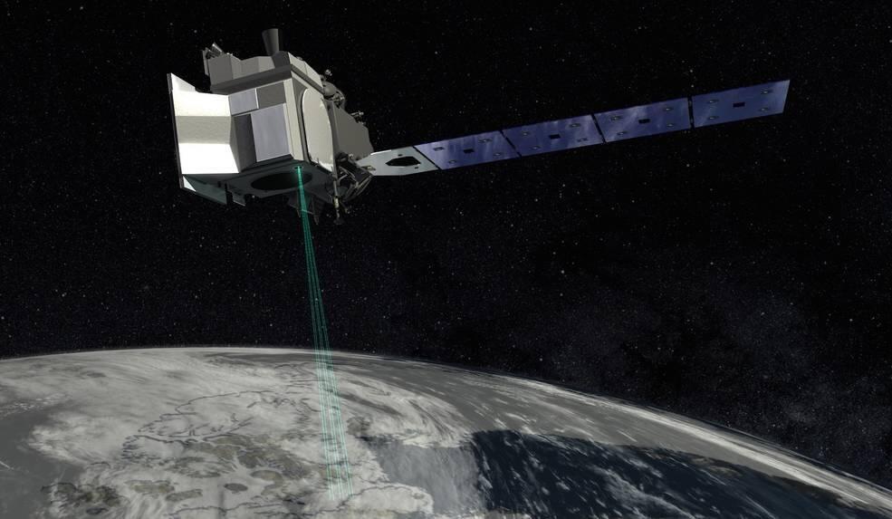 បេសកកម្ម ICESat-2 នឹងថតតាមដានការរលាយទឹកកកនៅលើផែនដីជាមួយនឹងLaserone laser បាញ់បាន10,000 ក្នុងមួយវិនាីទ