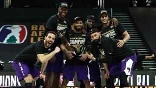Les joueurs du club égyptien de Zamalek ont remporté la première édition de la Basketball Africa League, le 30 mai 2021 à Kigali, au Rwanda.