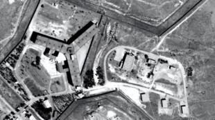 塞德納亞軍事監獄(Prison de Saidnaya)鳥瞰圖片