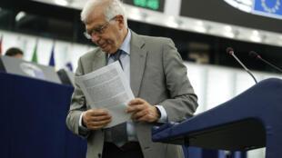 El jefe de la diplomacia de la UE, Josep Borrell, en Estrasburgo, Francia, el 8 de junio de 2021