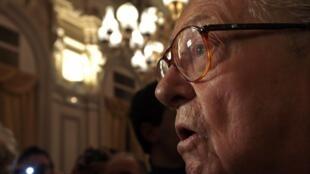 Le fondateur du Front national, Jean-Marie Le Pen, le 18 janvier 2014 à Nice.