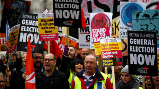 Des manifestants anti-Brexit défilent dans le centre de Londres, le 12 janvier 2019.
