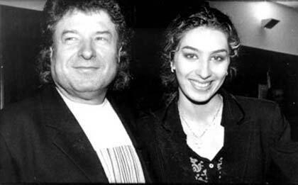 Enrique Morente con su hija Estrella.