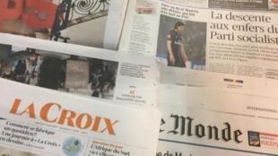Primeiras páginas dos jornais franceses de 7 de março de 2018