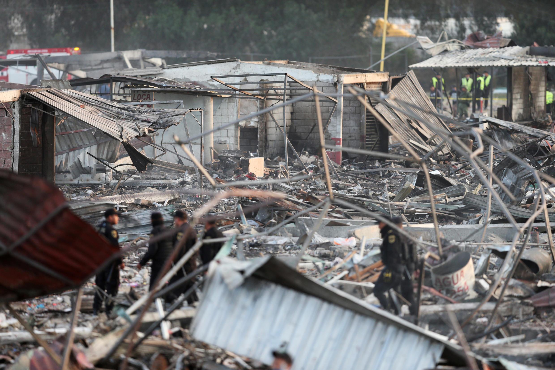 Mercado de pirotecnia donde sucedió la explosión