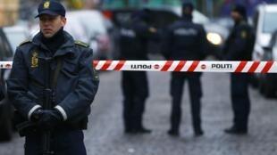 Une vaste opération de police a eu lieu, le 15 février 2015, à Copenhague près du lieu où le suspect des deux attaques a été tué.