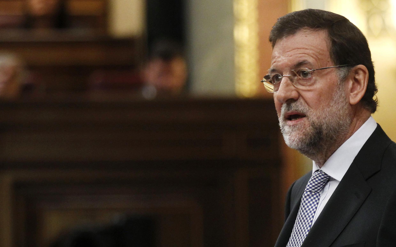 Испанский премьер М.Рахой во время инаугурации в парламенте 19 декабря 2011 г.