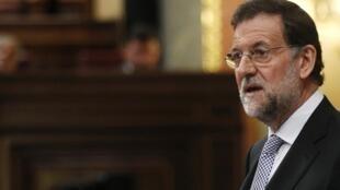 Le Premier ministre Mariano Rajoy lors de son investiture au Parlement espagnol, le 19 décembre 2011.