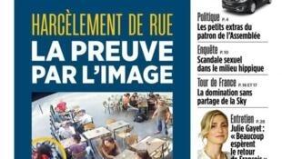 Vídeo onde uma jovem é vista agredida nas ruas de Paris por ter reagido a insultos é capa do jornal Aujourd'hui en France desta segunda-feira (30).