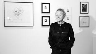 La créatrice française Agnès B dans son nouvel espace, la FAB dans le XIIIe arrondissement de Paris.