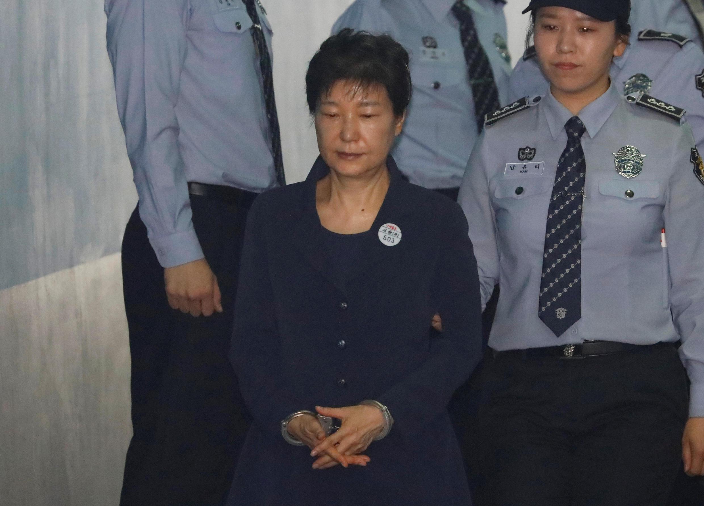 L'ancienne présidente sud-coréenne Park Geun-hye a pu bénéficier d'une opération de manipulation électorale pour remporter l'élection en 2012. Ici à Séoul, le 23 mai 2017.