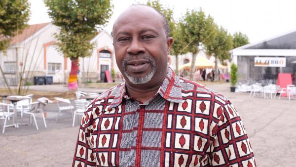 Le Burkinabè Hassane Kassi Kouyaté, directeur des Zébrures d'Automne, à Limoges.