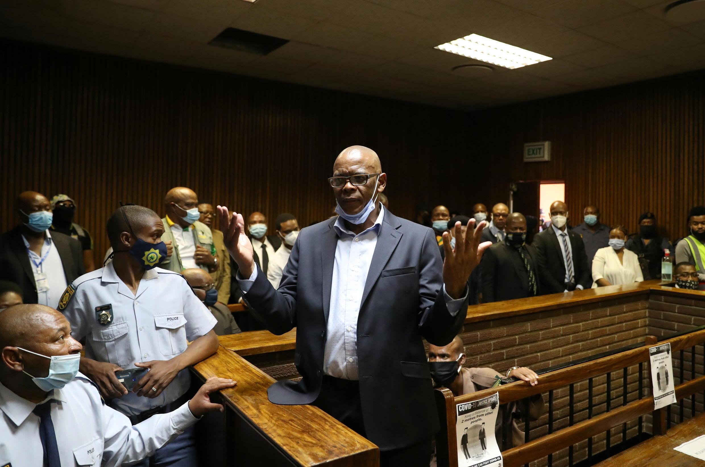 Ace Magashule lors d'une audience au tribunal de Bloemfontein le 13 novembre 2020.