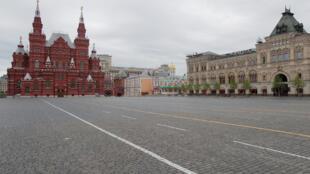 Quảng trường Đỏ, thủ đô Mátxcơva Nga, trong ngày kỷ niệm chiến thắng phát xít Đức, 09/05/2020.