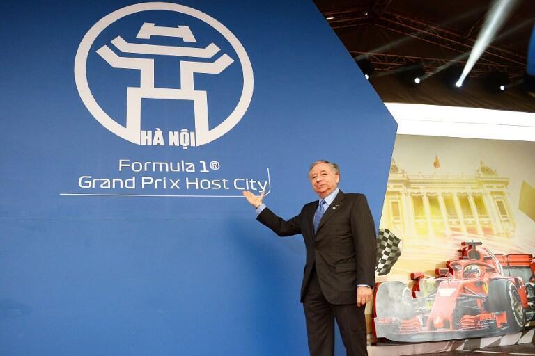 Chủ tịch FIA, Jean Todt trong lễ khởi công  đường đua Công thức 1, Hà Nội 2020, ngày 20/03/2019.
