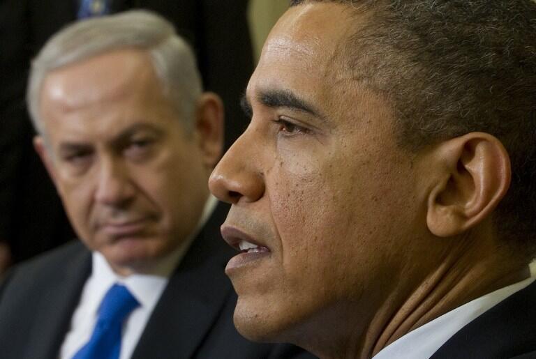 Barack Obama et Benyamin Netanyahu, le 5 mars 2012 à la Maison Blanche.