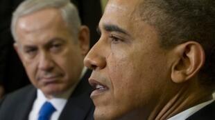 Barack Obama et Benjamin Netanyahu, le 5 mars 2012 à la Maison Blanche.