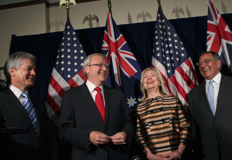 Ngoại trưởng và bộ trưởng Quốc phòng Mỹ, Úc tại San Francisco