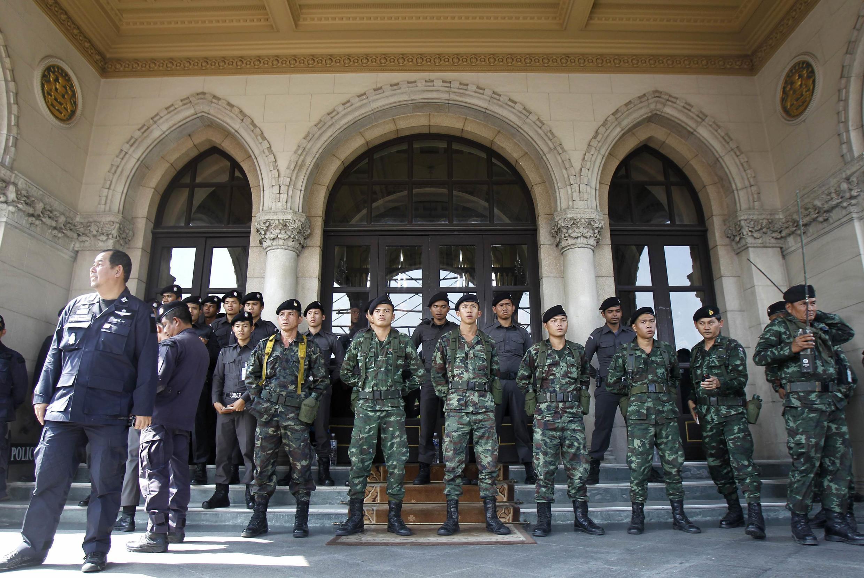 Trụ sở chính phủ Thái Lan, Bangkok, 03/12/2013.