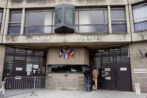 The entrance to Fleury-Mérogis prison