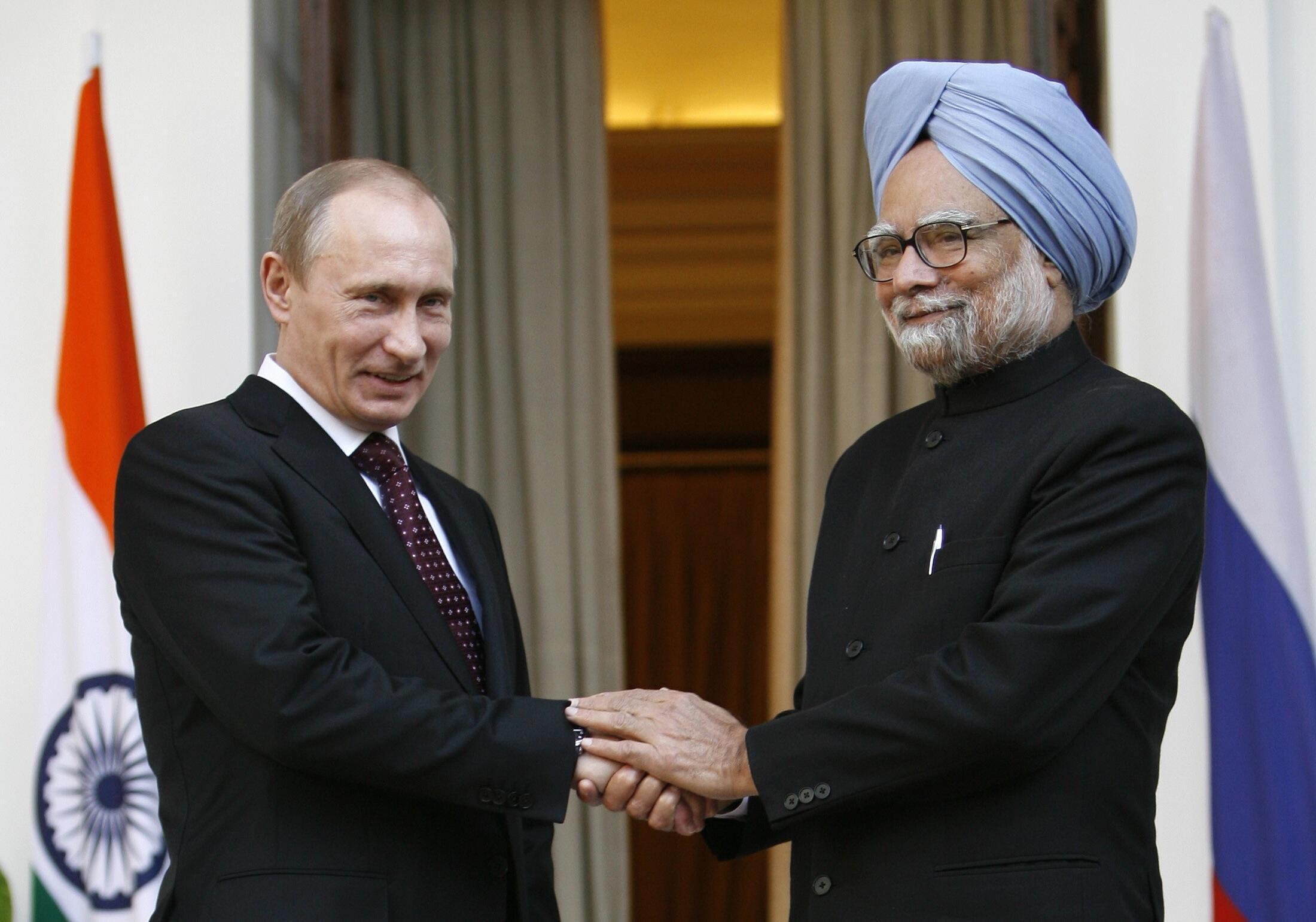 La dernière visite de Vladimir Poutine en Inde remonte à mars 2010, en qualité de Premier ministre..