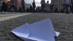 Manifestación en Moscú el 30 de abril contra el bloqueo de la mensajería privada Telegram.