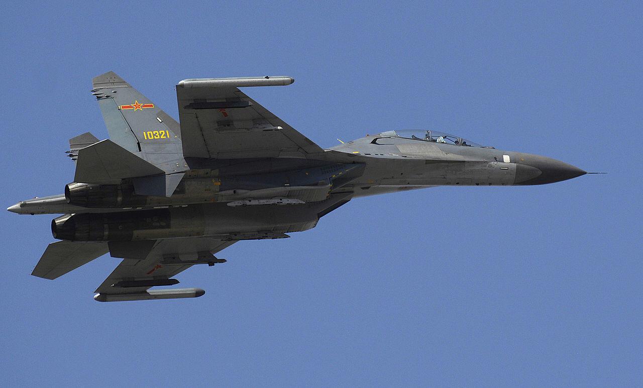 Ảnh minh họa. Một chiến đấu cơ Thẩm Dương-11 (Shenyang J-11) của Không quân Trung Quốc.