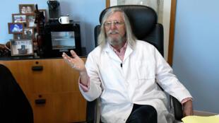 El doctor francés Didier Raoult, el 26 de febrero de 2020 en el Instituto Mediterráneo IHU de Infección, en Marsella