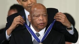 US congressman John Lewis was presented with the Medal of Freedom by president Barack Obama in 2011