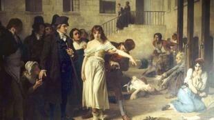 Доктор Филипп Пинель освобождает от оков психически больных в больнице Сальпетриер в 1795 году (Tony Robert-Fleury)