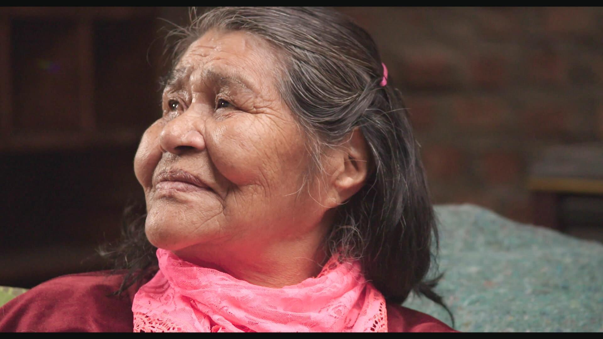 Gabriela, descendante de l'ethnie Kawésqar.