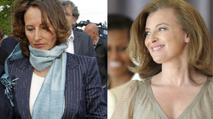 Ségolène Royal (L) Valérie Trierweiler (R)