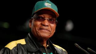 Le président sud-africain, Jacob Zuma, lors de son discours à l'ouverture de la conférence de l'ANC, le 30 juin 2017, à Soweto.