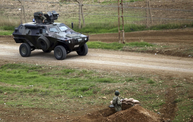 Des troupes turques positionnées à Ceylanpinar à la frontière, près de la ville syrienne de Rais al-Aïn, le 19 novembre 2012 (illustration).