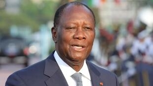 Le président ivoirien Alassane Ouattara, ici à Abidjan, le 21 décembre 2019.