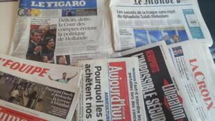 Primeiras páginas dos jornais franceses de 30 de junho de 2016